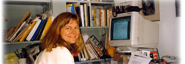 Picture of Gail Matthews-DeNatale at Her Computer